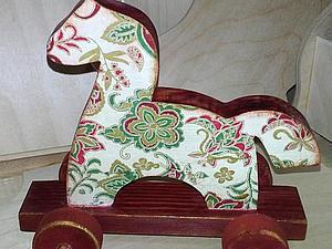 «Любимая игрушка» деревянная игрушка-лошадка, декупаж СКИДКА!   Ярмарка Мастеров - ручная работа, handmade