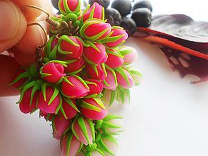 Видео мастер-класс: делаем милые серьги «Нераспустившиеся бутоны» из полимерной глины. Ярмарка Мастеров - ручная работа, handmade.