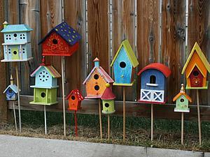 Домики для птиц: 20 идей для оформления скворечников | Ярмарка Мастеров - ручная работа, handmade