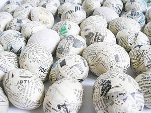 Яичные болванки в технике папье-маше из салфеток | Ярмарка Мастеров - ручная работа, handmade