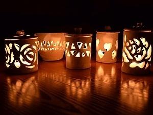 Завораживающие подсвечники воскресным вечером. приходите делать! | Ярмарка Мастеров - ручная работа, handmade