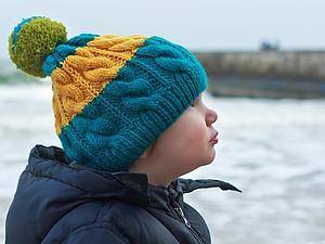 Новые шапочки с помпонами от Positive knitting | Ярмарка Мастеров - ручная работа, handmade