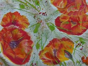 Видео мастер-класс: рисуем на ткани маки. Ярмарка Мастеров - ручная работа, handmade.