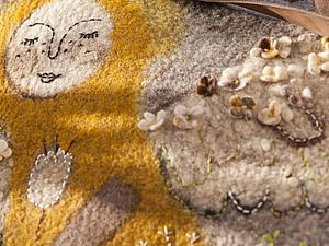 Мои рисунки на войлочных сумках   Ярмарка Мастеров - ручная работа, handmade