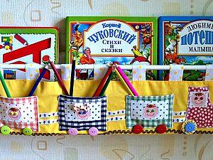 Полка для книг из ткани. , handmade
