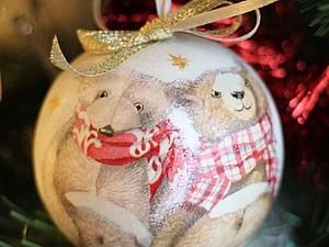 Елочный шар своими руками | Ярмарка Мастеров - ручная работа, handmade