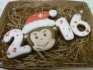 Делаем сами новогодний подарок — пряник с обезьянкой. Ярмарка Мастеров - ручная работа, handmade.