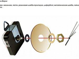 Схема сборки часов | Ярмарка Мастеров - ручная работа, handmade