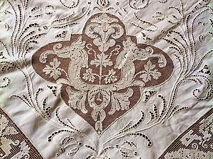 Антикварная скатерть-покрывало | Ярмарка Мастеров - ручная работа, handmade
