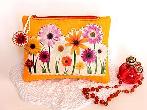 Косметичка «Весенняя»: шьём из фетра. Ярмарка Мастеров - ручная работа, handmade.