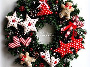 Игрушки для рождественского венка. | Ярмарка Мастеров - ручная работа, handmade