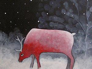Новинка  магазина   Картина  Северный  олень  ! | Ярмарка Мастеров - ручная работа, handmade
