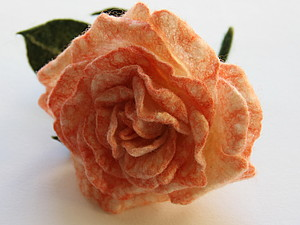 МК по валянию цветка розы | Ярмарка Мастеров - ручная работа, handmade