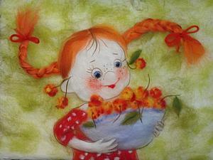 Шерстяная акварель НЕ ВАЛЯНИЕ! Екатерины Буянковой - создаем картину по мотивам работ В.Кирдий! | Ярмарка Мастеров - ручная работа, handmade