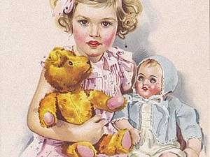 Мишки-тедди на старых открытках | Ярмарка Мастеров - ручная работа, handmade