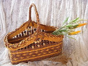 Плетение корзинки  из газететных трубочек   Ярмарка Мастеров - ручная работа, handmade