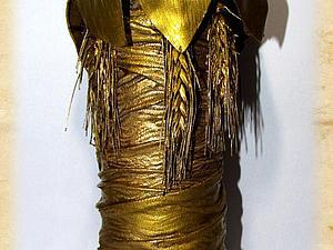 Золотая бутылка из кожи своими руками. Ярмарка Мастеров - ручная работа, handmade.
