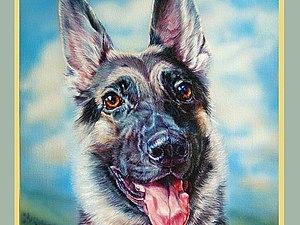 Рисуем весёлую собаку акрилом. Ярмарка Мастеров - ручная работа, handmade.