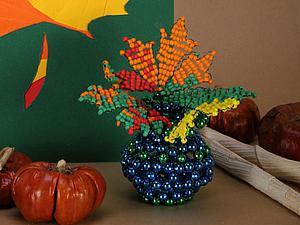 Плетём сувенирную вазочку из бисера. Ярмарка Мастеров - ручная работа, handmade.