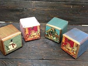 Набор интерьерных кубиков - прекрасный новогодний подарок! Новинка нашей студии! | Ярмарка Мастеров - ручная работа, handmade