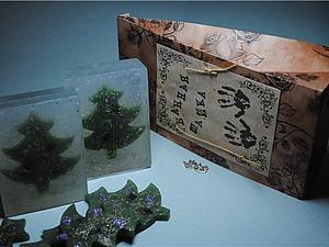 Создаем мыло «Ёлочка в метель». Ярмарка Мастеров - ручная работа, handmade.