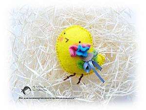 Как сшить милый подарок — весеннего цыпленка-брошь. Ярмарка Мастеров - ручная работа, handmade.