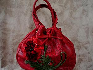 Новая ярко-красная сумочко   Ярмарка Мастеров - ручная работа, handmade