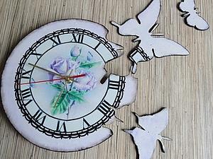 Часики с вылетающими бабочками | Ярмарка Мастеров - ручная работа, handmade