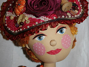 Шляпка для куклы.. Ярмарка Мастеров - ручная работа, handmade.