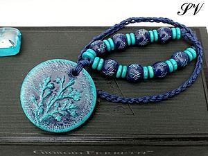 Создаем кулон с растительным штампом. Ярмарка Мастеров - ручная работа, handmade.