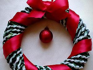 Делаем венок к Новому году. Ярмарка Мастеров - ручная работа, handmade.