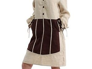 Аукцион Льняное платье-фартук KOSTENKO . Старт 1500 р. | Ярмарка Мастеров - ручная работа, handmade
