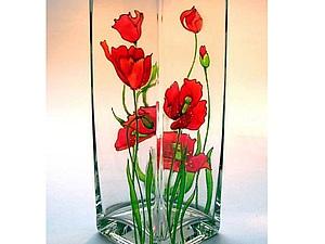 Маркеры по керамике. Роспись чудесной вазочки | Ярмарка Мастеров - ручная работа, handmade