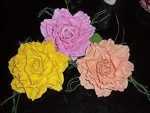 МК роза из фоамирана | Ярмарка Мастеров - ручная работа, handmade