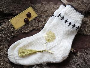 Как связать детские носки с «косой» пяткой. Ярмарка Мастеров - ручная работа, handmade.