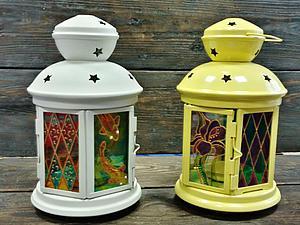 Сказочный фонарик - новый мастер-класс по витражной росписи стекла!   Ярмарка Мастеров - ручная работа, handmade
