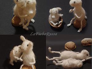 валянные овечки - мама и ребенок | Ярмарка Мастеров - ручная работа, handmade