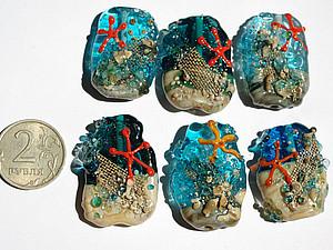Морские звездочки   Ярмарка Мастеров - ручная работа, handmade