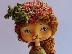 Создание сувенирной куклы-кошечки. Часть 2: расписываем мордочку и лапки | Ярмарка Мастеров - ручная работа, handmade