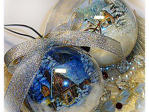 Мастер-класс Новогодние Шарики | Ярмарка Мастеров - ручная работа, handmade