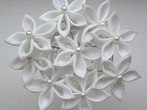 Делаем шпильки-цветы в технике канзаши. Ярмарка Мастеров - ручная работа, handmade.