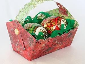 МК: корзиночка для пасхальных яиц | Ярмарка Мастеров - ручная работа, handmade