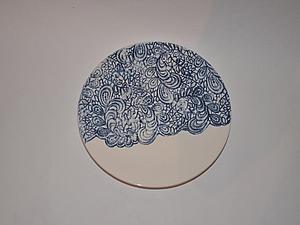 Кружевная тарелка. На фото-работа ученицы | Ярмарка Мастеров - ручная работа, handmade