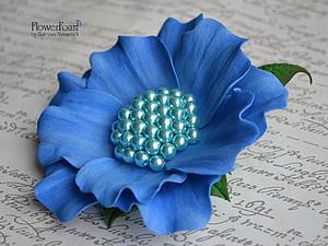 Мастер-класс: фантазийный цветок из фоамирана. Ярмарка Мастеров - ручная работа, handmade.