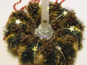 Мастерим новогодний подсвечник из того, что есть под рукой. Ярмарка Мастеров - ручная работа, handmade.