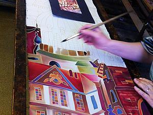 Скидка 20% на шелковые палантины ручной росписи Батик   Ярмарка Мастеров - ручная работа, handmade