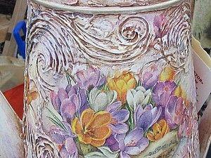 Декор садовой лейки с созданием фактурной поверхности.   Ярмарка Мастеров - ручная работа, handmade