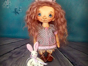 Роспись лица текстильной куклы. | Ярмарка Мастеров - ручная работа, handmade
