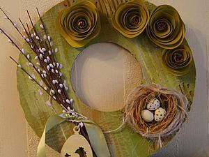 Создаём оригинальные и простые пасхальные веночки. Ярмарка Мастеров - ручная работа, handmade.