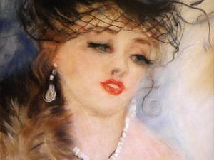 Мастер-класс: картина шерстью «Дама в шляпке». Ярмарка Мастеров - ручная работа, handmade.